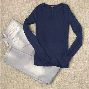 Express fitted royal blue sweater